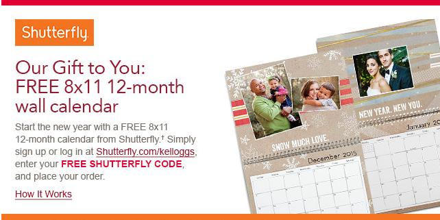 shutterfly code calendar