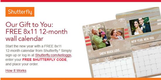 Kellogg S Family Rewards Possible Free Shutterfly Wall Calendar