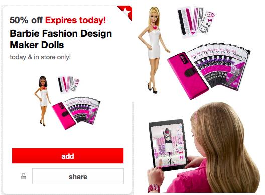 Target Cartwheel 50 Off Barbie Fashion Design Maker Dolls Today Only Only 24 99 Hip2save