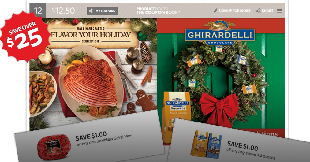 graphic relating to Ghirardelli Printable Coupon named The Coupon E-book: Preserve More than $25 w/ Printable Discount codes