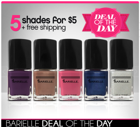 Barielle Nail Polish: 5 Shades for $5 Shipped (TODAY ONLY) - Hip2Save