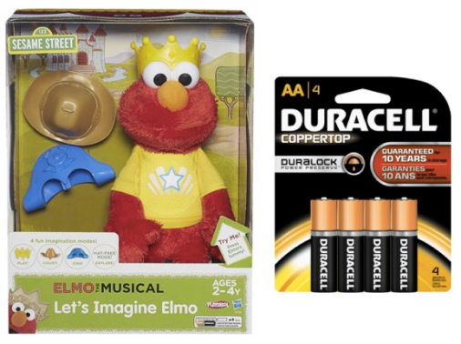 Target or Walmart: *HOT* Let's Imagine Elmo Toy & Duracell