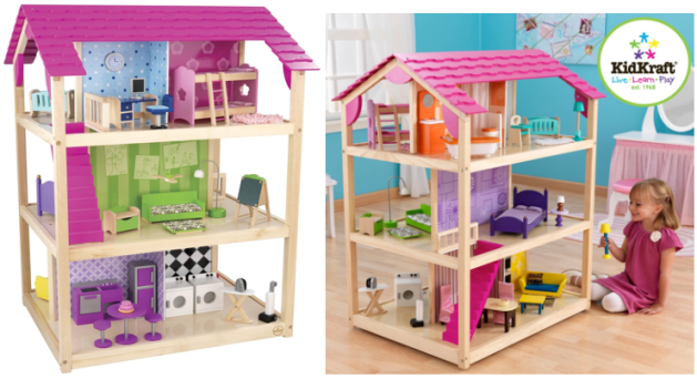 Amazon Kidkraft So Chic Doll House With 45 Pieces Of Furniture Only