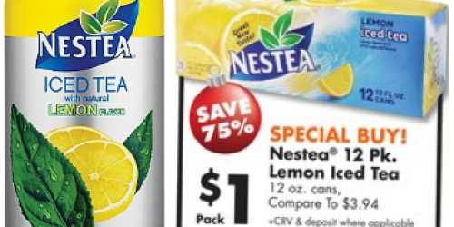 Big Lots: Nestea 12-Pack Lemon Iced Tea Only $1 (Starting 12/20 – No Coupons Needed) + More