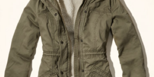 Hollister.com: Girls' Jack Creek Twill Sherpa Lined Parka Only $28 (Reg. $140!) – ACT FAST