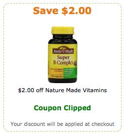 nature made vitamins coupons