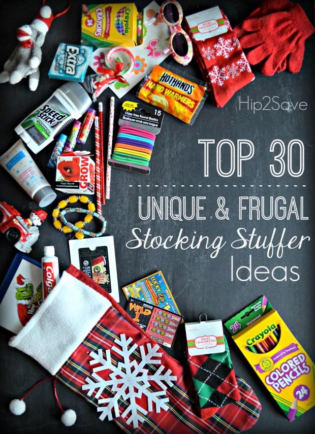 Top 30 Unique & Frugal Stocking Stuffer Ideas