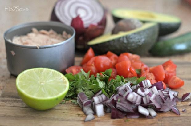 Easy tuna ceviche