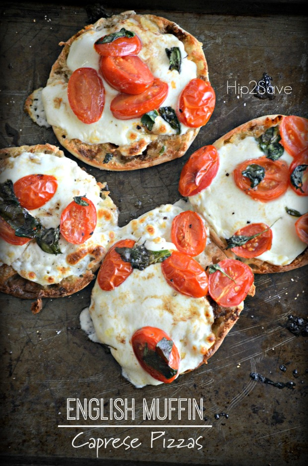 English Muffin Caprese Pizzas Hip2Ssve