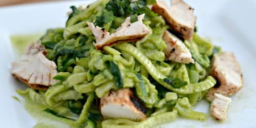 Pesto Zucchini Noodles (Dairy-Free AND Whole 30 Approved Meal Idea)