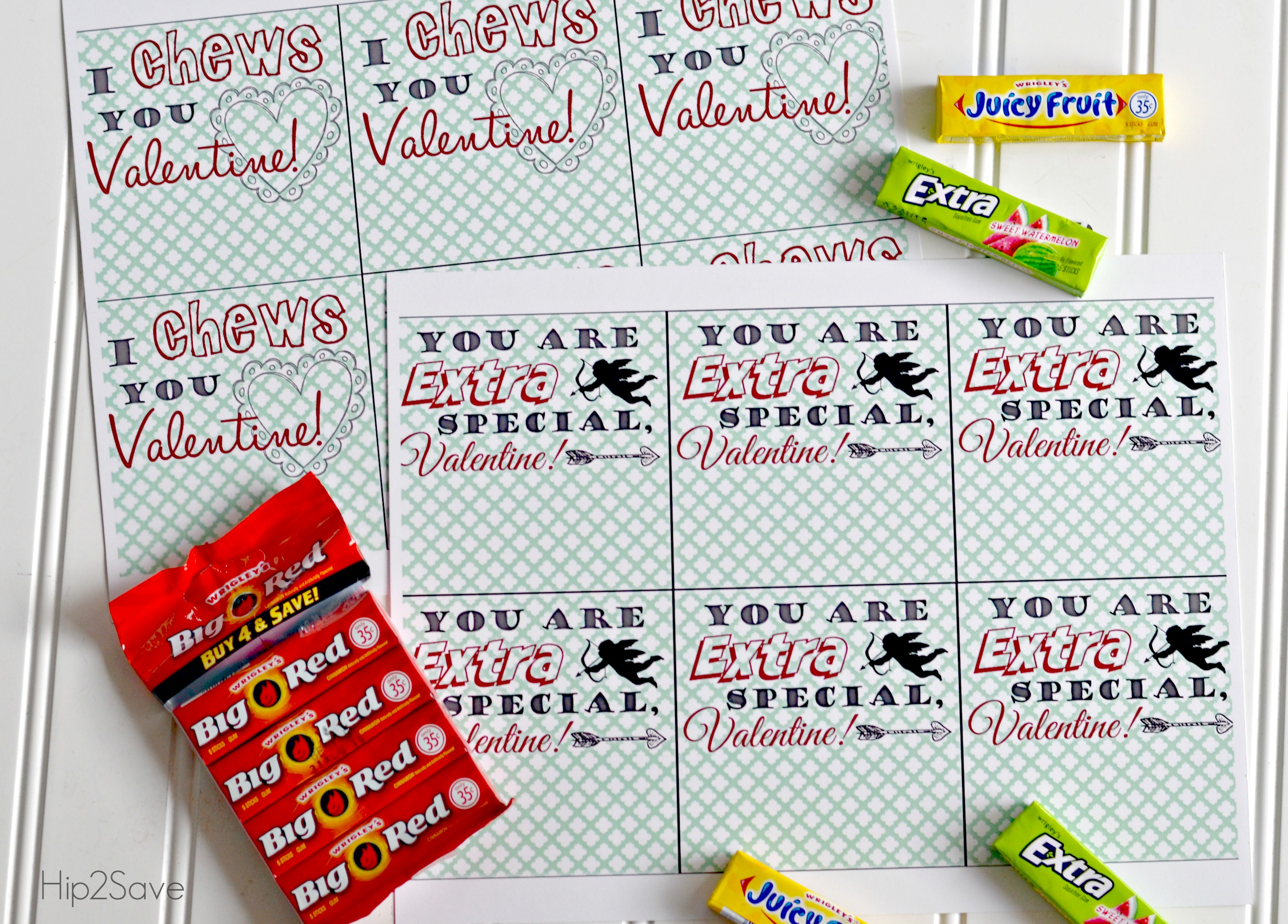 photograph relating to Extra Gum Valentine Printable named Chewing Gum Valentines Working day Playing cards (Free of charge Printables) - Hip2Help you save