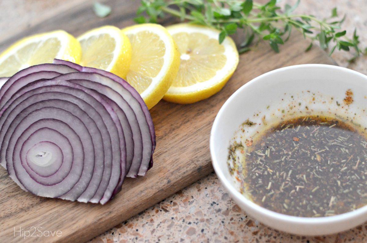 ingredients for roasted lemon chciken