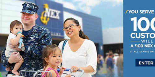 Military Giveaways: 1,000 Win $100 NEX Gift Card (+ January Commissary Deals)