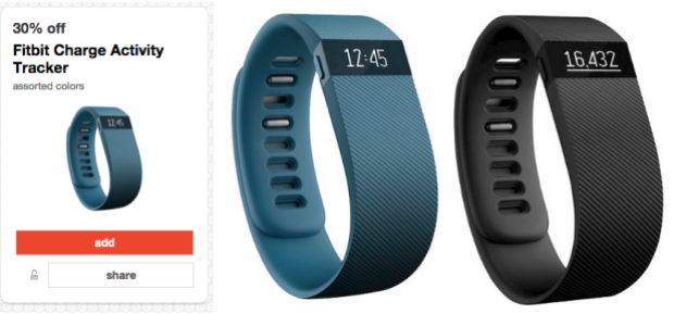 Target Cartwheel: 30% Off Fitbit Charge Activity Tracker