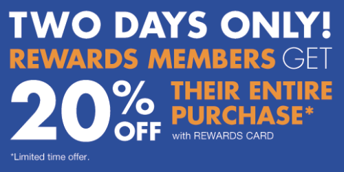 Big Lots: 20% Off Your ENTIRE Purchase for Buzz Club Members (Valid on 1/24 & 1/25 Only)