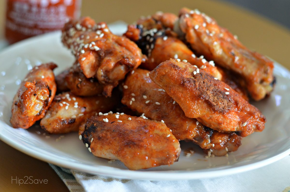 Sriracha Chicken Wings Recipe from Hip2Save