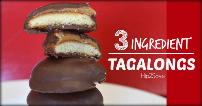 3 Ingredient Tagalongs (No Bake Cookies)