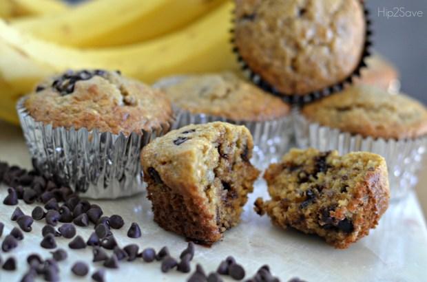 Healthier Banana Oat Muffins