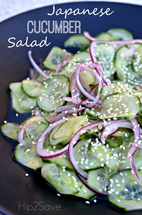 Japanese Cucumber Salad by Hip2Save.com. Try this refreshing salad at your next dinner.