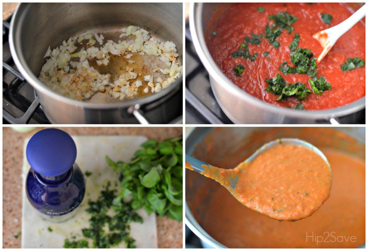 tomato basil soup recipe – the process of making the soup