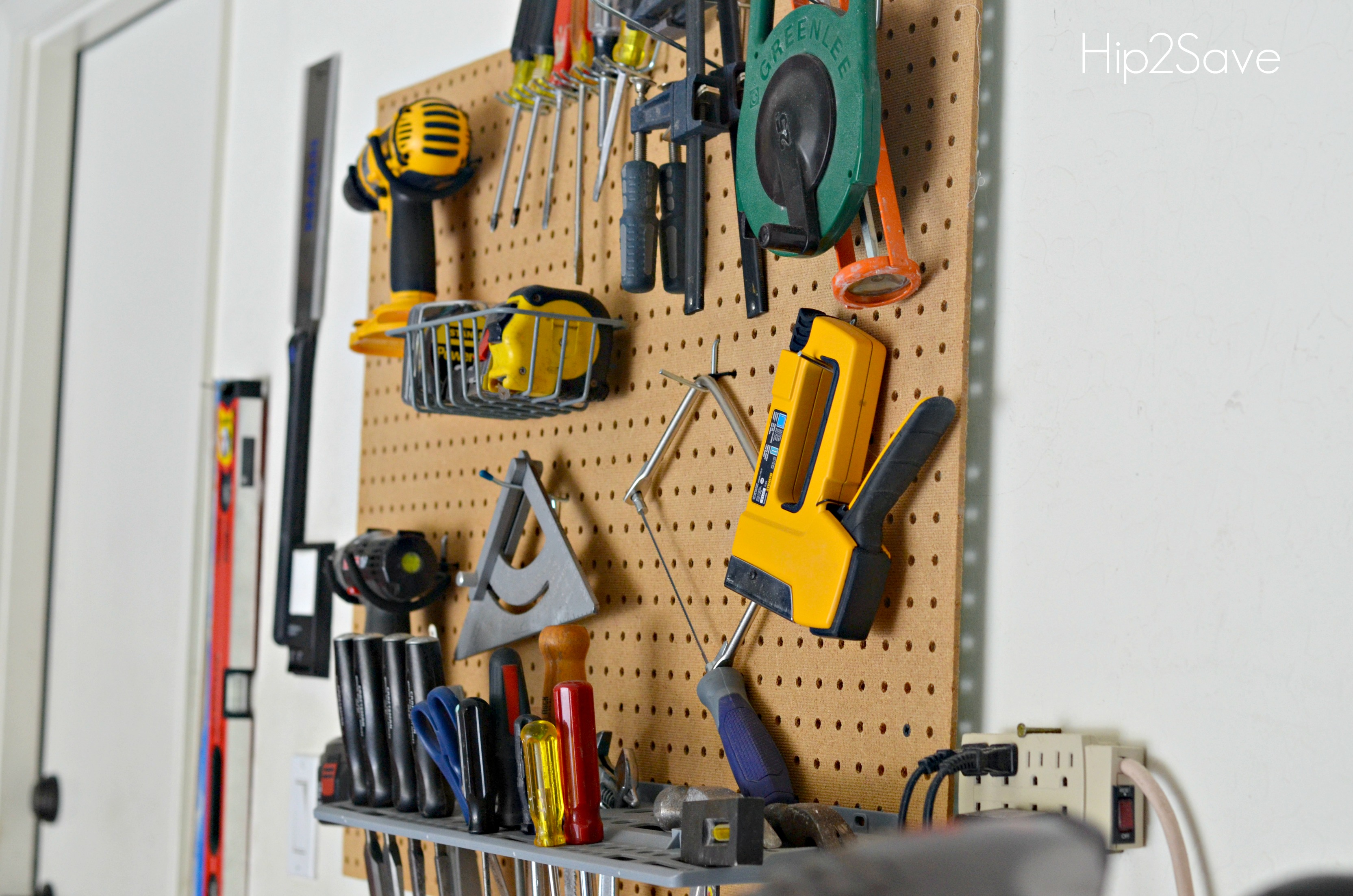 Pegboard for Tool Organization Hip2Save
