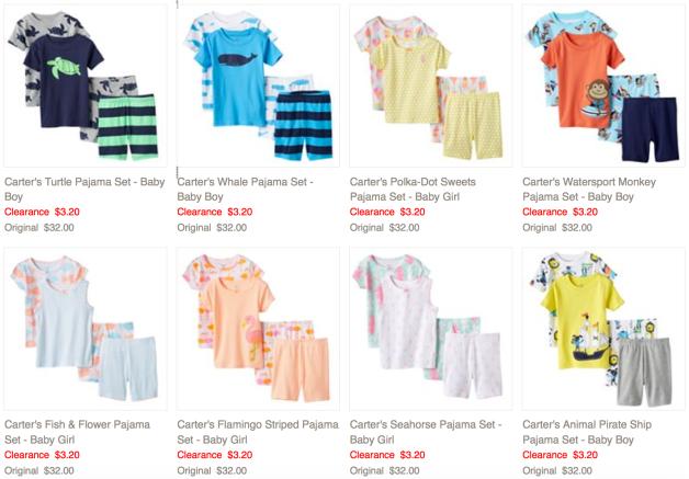 10b0edbd8 Kohl s.com  Carter s Baby 4-Piece Pajama Sets ONLY  2.72 (Reg.  32 ...
