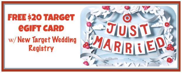 Free 20 Target Gift Card W Creation Of New Target Wedding Registry
