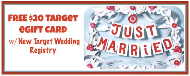Free 20 Target Gift Card W Creation Of New Target Wedding Registry