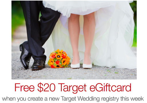 Target Wedding Gift: Getting Married? Get A FREE $20 Target Gift Card W