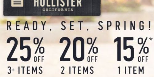 Hollister.com: Up to 25% Off Entire Purchase = Jack Creek Twill Parkas as Low as $31.50 (Reg. $142) + More