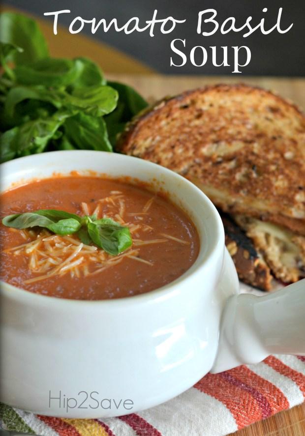 Tomato Basil Soup Hip2Save