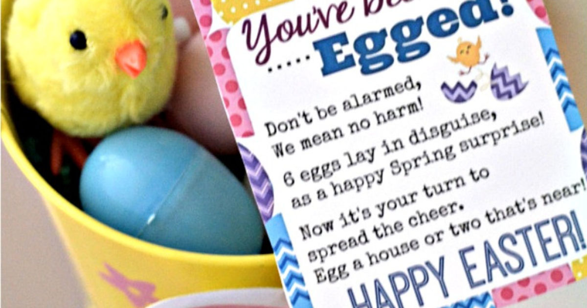 Easter Printable for you've been egged