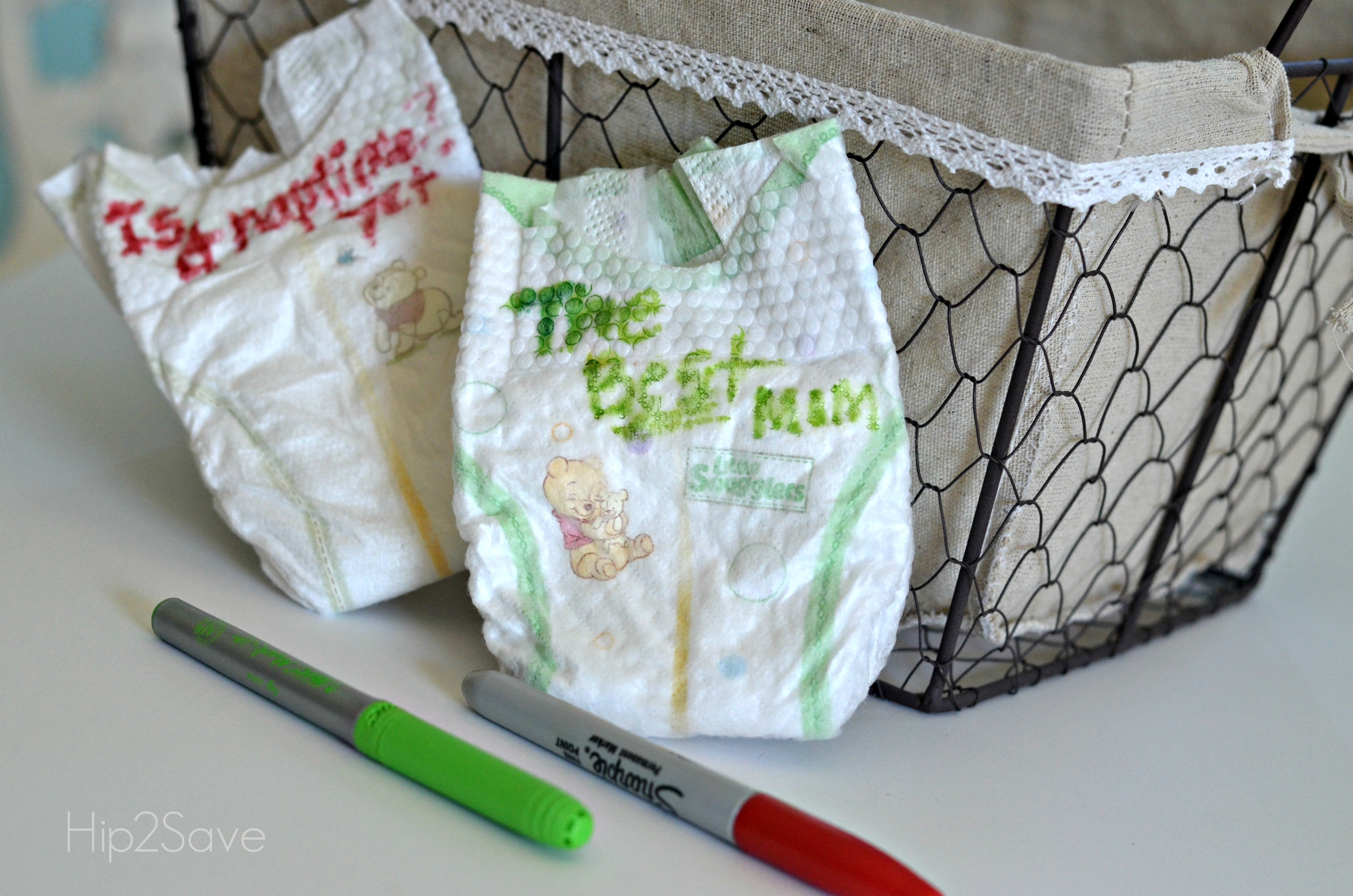 Diaper Messages Baby Shower Activity - Hip2Save