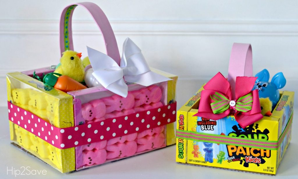 candy easter baskets diy