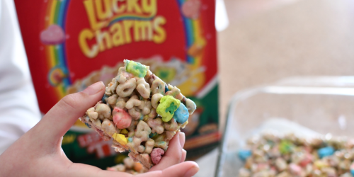 Make Gooey Lucky Charms Marshmallow Treats Using Only 3 Ingredients!
