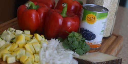 Vegetarian Stuffed Peppers (Meatless Monday Series)