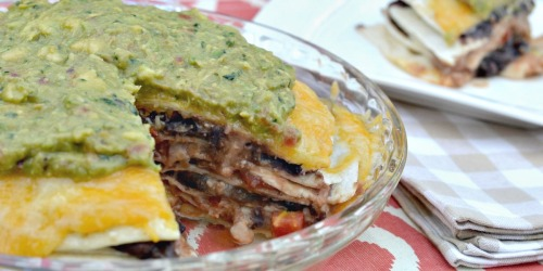 7 Layer Tortilla Pie (Meatless Monday Recipe)