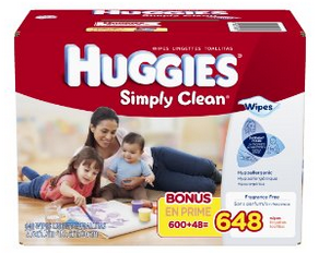 Amazon Huggies Simply Clean Wipes 648 Count Box Only 9