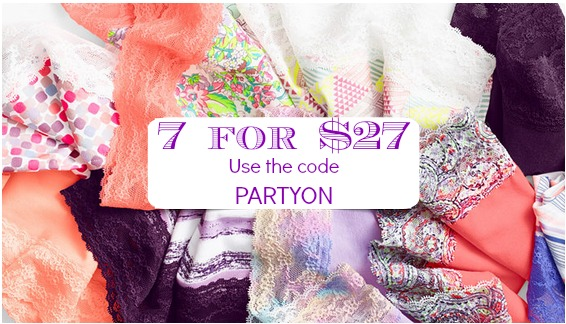 42ce419e3548 Calling all you Victoria's Secret Shoppers! Starting today and online only,  score 7 pairs of Panties for only $27 (just $3.86 each!)