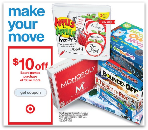 coupons for board games at target