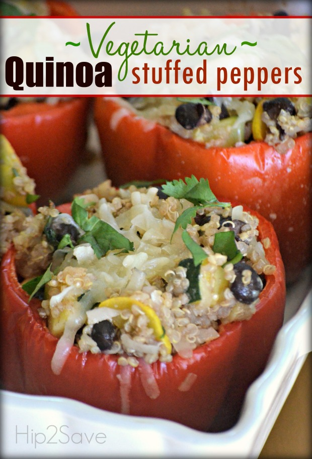 Vegetarian Quinoa Stuffed Peppers Hip2Save