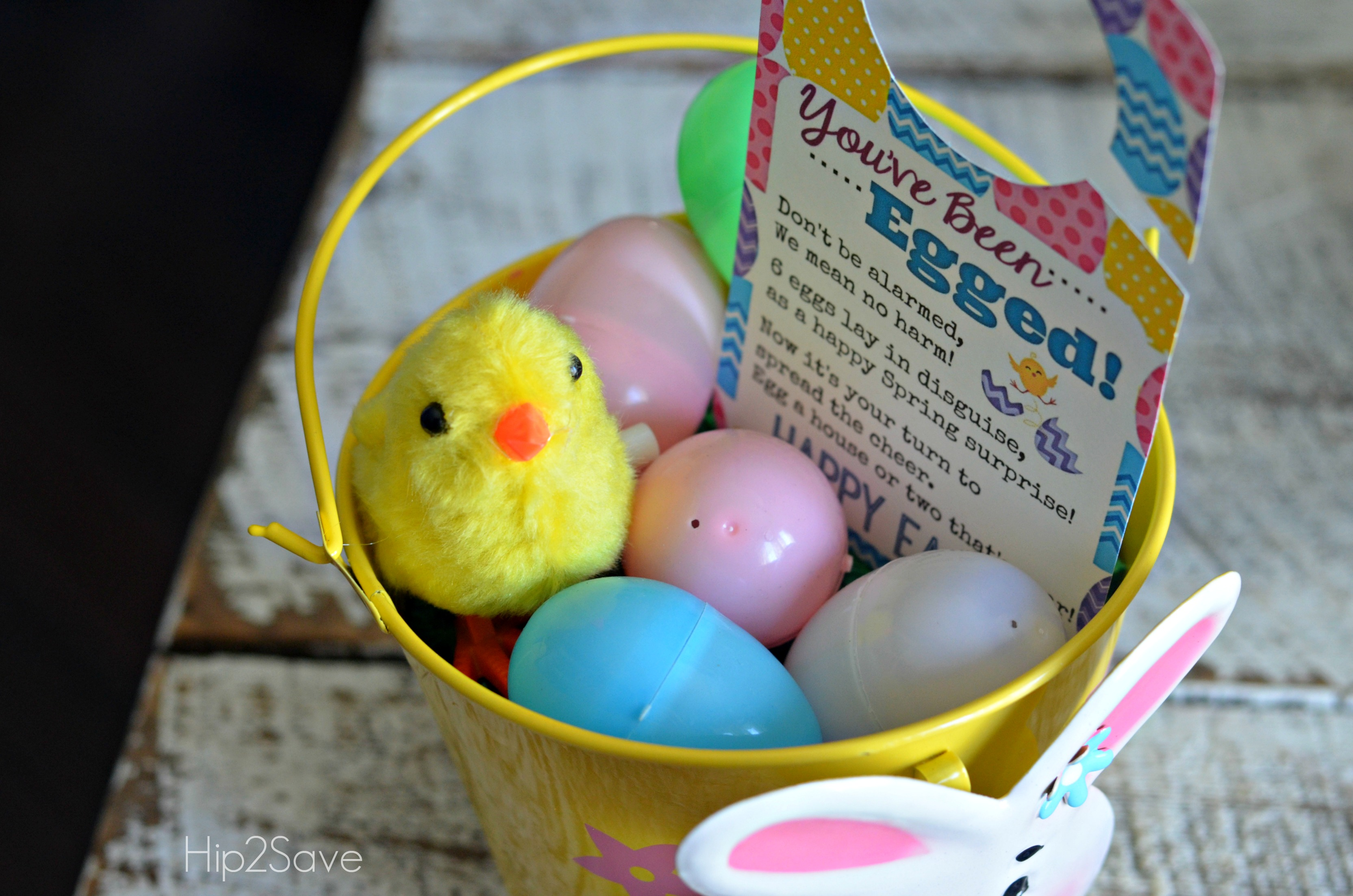You've Been Egged Easter Printable plus basket