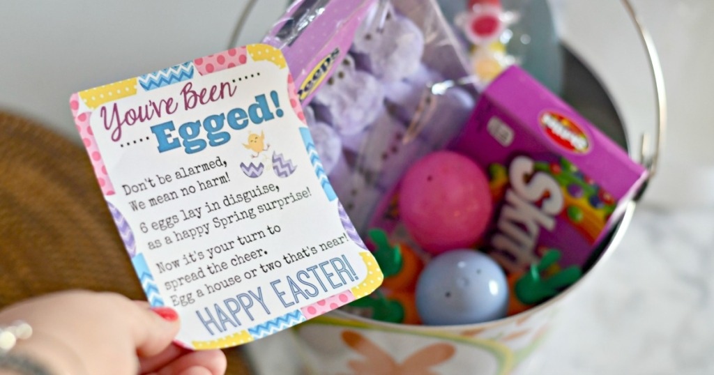 you've been egged easter surprises in a bucket