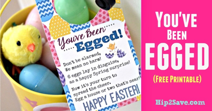 You've Been Egged (Free Printable Easter Idea)