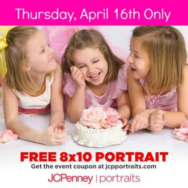 JCPenney Portraits: FREE 8x10 Traditional Portrait with NO