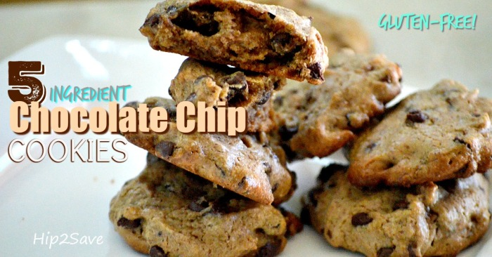 5 Ingredient Gluten-Free Chocolate Chip Cookies