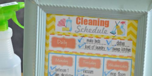 Free Printable Weekly Cleaning Schedule + Homemade All-Natural Cleaner Recipe