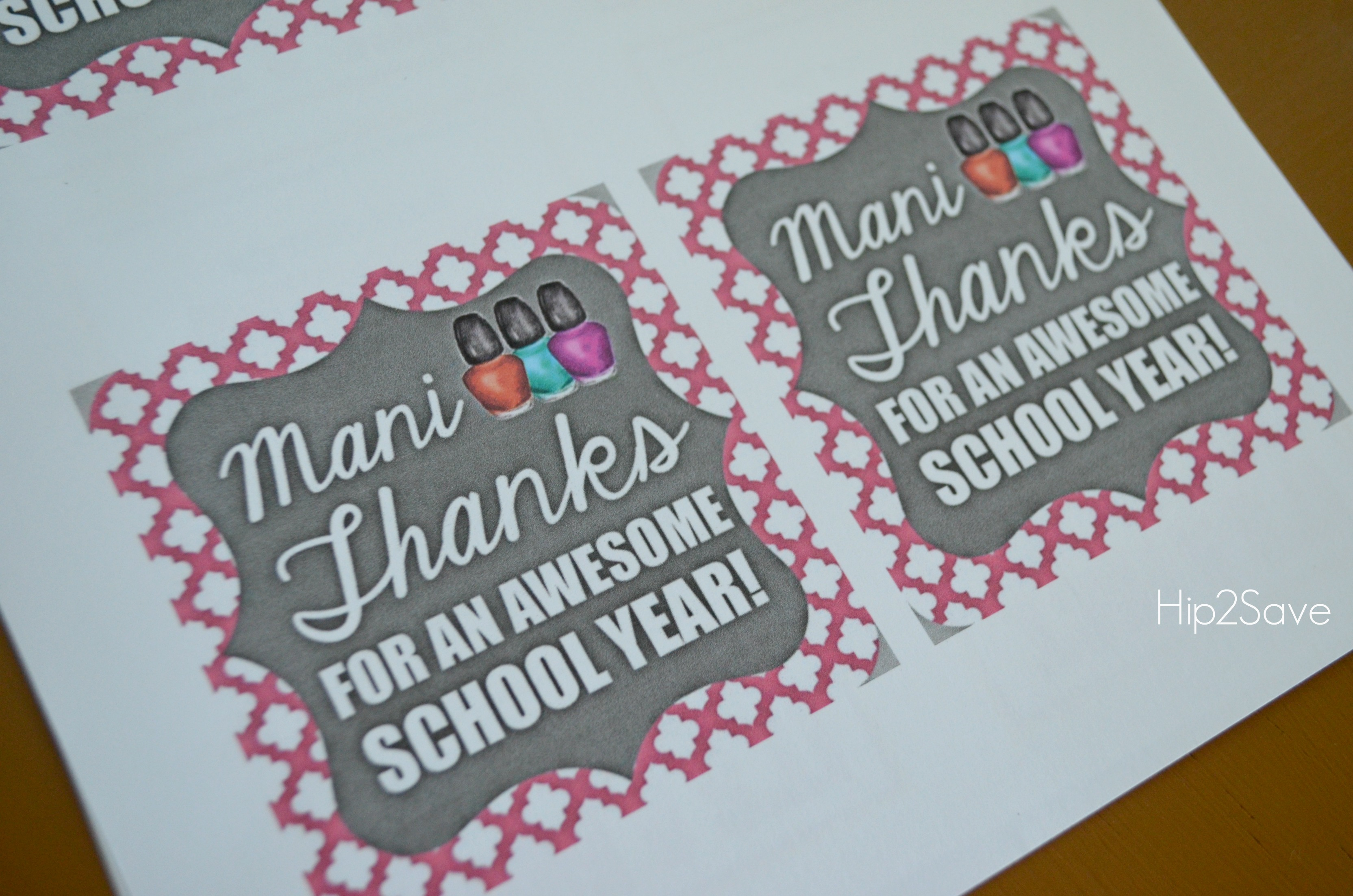 Teacher Appreciation Gift Idea Mani Thanks Manicure Jar With Free Printable Gift Tag Hip2save