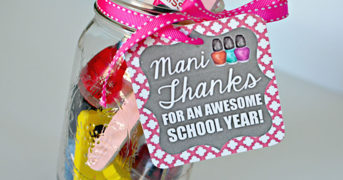 image regarding Mani Thanks Free Printable named Instructor Appreciation Reward Concept: \