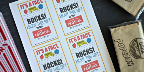 Teacher Appreciation Gift Idea: Gift a Redbox Code (Free Printable Card)